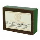 Аюрведическое мыло Базилик Скраб 125 г. Кхади (Basil Scrup Soap Khadi)