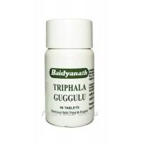 Трифала Гуггул, 80 таблеток, Бадьянатх (Triphala guggulu Baidyanath)