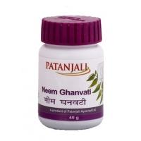 Ним Гханвати, 40 г в таблетках, Патанджали (Neem Ghanvati Patanjali)