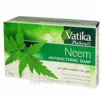 Мыло с экстрактом дерева Ним (Neem Antibacterial Soap) 115г. Dabur Vatika