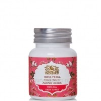 Маска Для Лица с Лепестками Розы (Rose Petal Pack With Amino Acids) 50г. Indibird