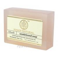 Аюрведическое мыло с Сандалом 125 г. Кхади (Sandalwood Soap Khadi)