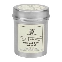 "Маска Для Лица ""Ним,Базилик и Мята"" (Natural Neem, Mint, Basil Face Mask) 50г. Khadi Natural"