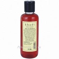 """Травяной шампунь Кхади """"Мед и Миндальное масло"""", 210 мл. (Khadi Honey & Almond Oil)"""