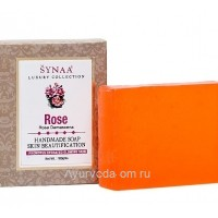 Мыло Роза LUXURY COLLECTION ручной работы, 100 гр, Synaa