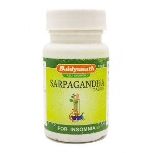 Сарпагандха Бадьянатх 50 таб. Sarpagandha Baidyanath  (для снижения кровяного давления)