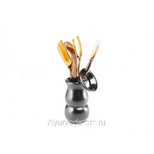 Инструменты для чайной церемонии 6 шт. (Темный пластик)