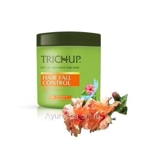Маска для волос Тричуп Против выпадения с горячим маслом 500 мл. (TRICHUP Hair Fall Control Hot Oil Treatment Hair Mask) VASU Индия