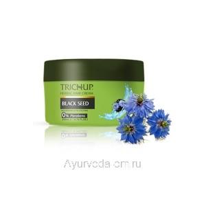 Крем для укладки волос с Черным тмином Тричуп 200 мл. ( Trichup Herbal Hair Cream Black Seed) VASU Индия