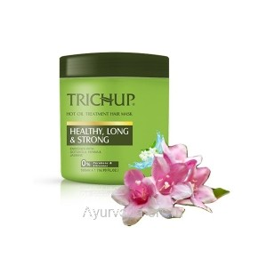 Маска для волос Тричуп интенсивное восстановление с горячим маслом 500 мл. (TRICHUP Hair Mask Hair Fall Control Hot Oil Treatment) VASU Индия