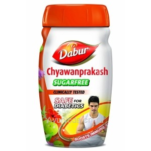 Чаванпраш Дабур без сахара 500г. (Dabur Chyawanprakash Sugarfree) Индия