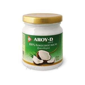 Кокосовое масло Пищевое первого холодного отжима 180 мл. AROY-D (Extra Virgin)