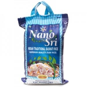 Индийский Рис Басмати (Нано Сри) 5кг. Необработанный