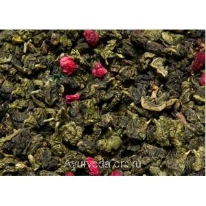 Зелёный чай Улун Малина с травами 50г.