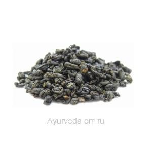 Китайский зеленый чай Ганпаудер 50г. (Порох) / Gunpowder