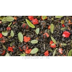 Чай зелёный байховый китайский Клубника со сливками 50г.