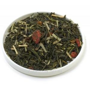 """Зеленый ароматизированный чай """"Годжи-Облепиха"""" 50г. (Германия)"""