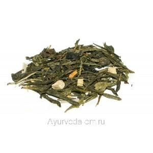 """Зеленый ароматизированный чай """"Имбирь Лимон"""" (Германия) 50г."""