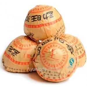 Пуэр гнездо из Мэнхай, 100 гр. (выдержка 5 лет)