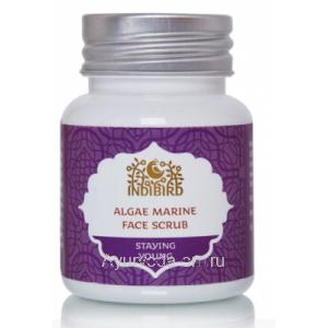 Скраб для лица Algae marine face scrub Indibird 50 гр.
