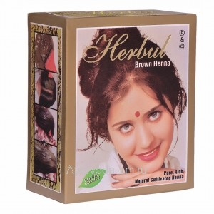 """100% Натуральная Хна для волос Коричневый """"Brown"""", 60 гр. Индия Herbul"""