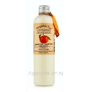 Натуральный укрепляющий бальзам-кондиционер «МАНДАРИН» для роста волос, 260мл. Органик Тай (Balm-Conditioner Organic Tai)