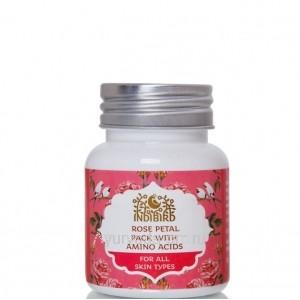 Для всех типов кожи Маска Для Лица с Лепестками Розы (Rose Petal Pack With Amino Acids) 50г. Indibird