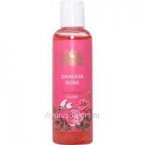 Гель для умывания лица Дамасская роза Без сульфатов Индибирд 100 мл. (Damask Rose Face Wash SLS-free Indibird)