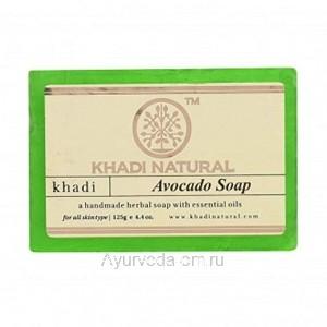 Аюрведическое мыло Авокадо 125 г. Кхади (Avocado Soap Khadi) Индия