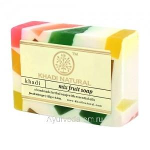 Аюрведическое мыло Фруктовый Микс 125 г. Кхади (Mix Fruit Soap Khadi) Индия