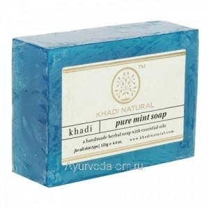 Аюрведическое мыло Чистая Мята 125 г. Кхади (Pure Mint Soap Khadi) Индия