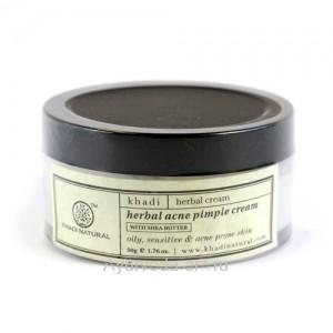 Травяной Крем для Лица против Акне  и чёрных точек (Herbal Acne Pimple Cream) 50г.  Khadi Natural