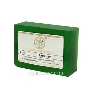 Аюрведическое мыло Ветивер 125 г. Кхади (Khus Soap Khadi) Индия