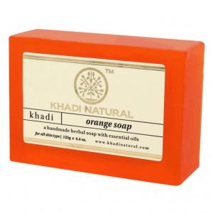 Аюрведическое мыло с Апельсином 125 г. Кхади (Orange Soap Khadi) Индия