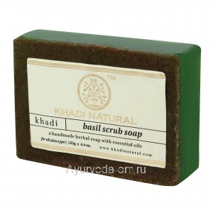 Аюрведическое мыло Абрикос Скраб 125 г. Кхади (Apricot Scrub Soap Khadi) Индия