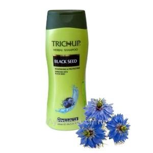Шампунь Тричуп с экстрактами трав с маслом черного Тмина (TRICHUP Herbal Shampoo Black Seed) 400 мл. VASU Индия
