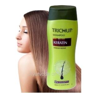 Шампунь Тричуп с Кератином 400 мл. (TRICHUP Herbal Keratin Shampoo) VASU Индия
