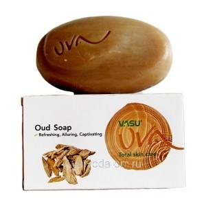 Ароматное  Мыло с Удовым Деревом (Oud Soap) Refreshing, Alluring, Captivating 125г. VASU UVA Trichup