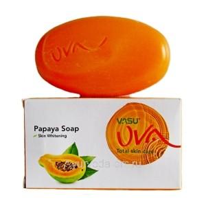 Омоложивающее Мыло с Папайей (Papaya Soap) Skin Whitening 125г. VASU UVA Trichup