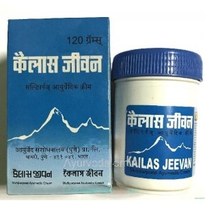 """Аюрведический крем-бальзам """"Кайлаш Дживан"""" 120 гр. (Kailas Jeevan) Индия"""