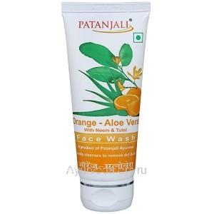 Гель для умывания Апельсин и Алое Вера 60 гр. Патанджали (Orange - Aloe Vera Face Wash Patanjali) Индия