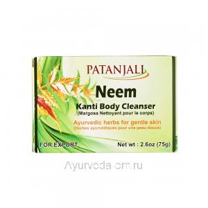 Ним Канти мыло для тела 75 гр. Патанджали (Neem Kanti Body Cleanser Patanjali) Индия