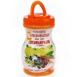 Чаванпраш с шафраном, 500 гр, Патанджали (Chyawanprash Patanjali)