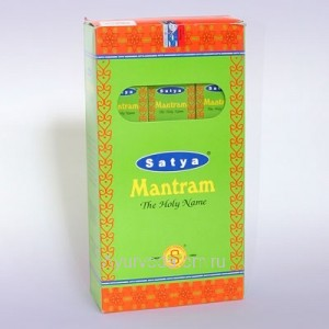 "Индийские  Благовония (Premium Masala Base Incense ""Agarbatti"" Natural Fragrance) 30г. Mantram Satya"