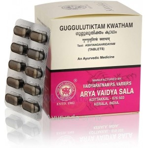 Гуггулутиктам Кватхам для лечения заболеваний кожи, суставов и костей 100 таб. Коттаккал Аюрведа (Guggulutiktam Kwatham Kottakkal Ayurveda)