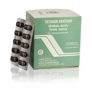 Тиктакам Кватхам лечение кожных заболеваний 100 таб. Коттаккал Аюрведа (Tiktakam Kwatham Kottakkal Ayurveda) Индия