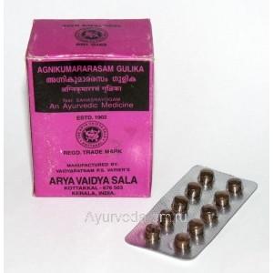Агникумарарасам Гулика для лечения гастрита и улучшения пищеварения 100 таб. Коттаккал Аюрведа (Agnikumararasam Gulika Kottakkal Ayurveda) Индия