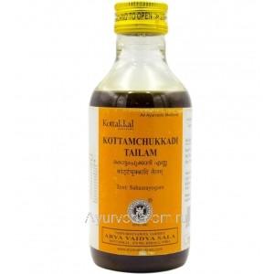 Коттамчуккади Тайлам, 200 мл, Коттаккал  (Kottamchukkadi Tailam Kottakkal) массажное масло от отеков