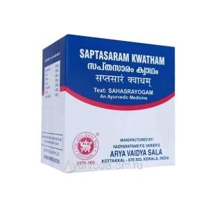 Саптасарам Кватхам для лечения нижней части живота 100 таб. Коттаккал Аюрведа (Saptasaram Kwatham Kottakkal Ayurveda) Индия
