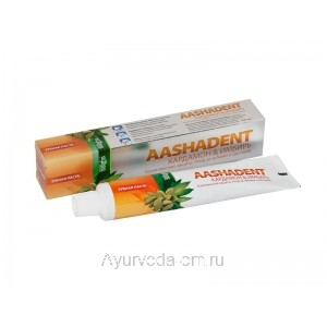 Зубная паста Аашадент (Кардамон-Имбирь), 100г., AASHADENT Aasha Herbals
